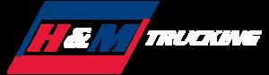 H&M Trucking full logo white