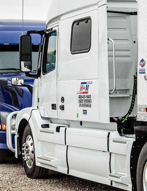 trucks on lot