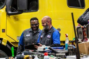 mechanics in the shop